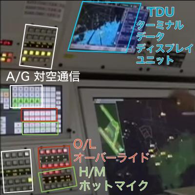 管制卓の機器説明解説